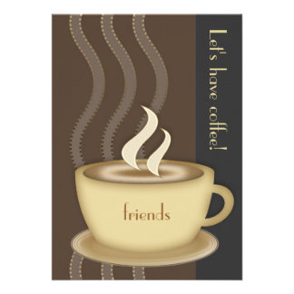 Convite do copo de café grande