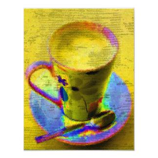 Convite do copo de chá convite 10.79 x 13.97cm