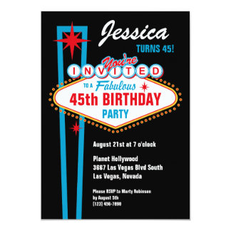 Convite do costume de Las Vegas Convite 12.7 X 17.78cm
