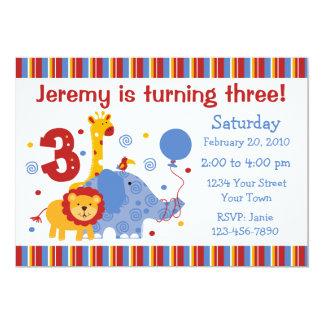Convite do costume do aniversário de 3 anos do
