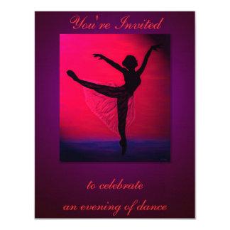 Convite do costume do considerando da dança