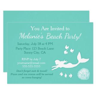 Convite do costume do partido da praia da cerceta