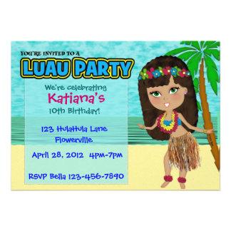 Convite do costume do partido de Luau