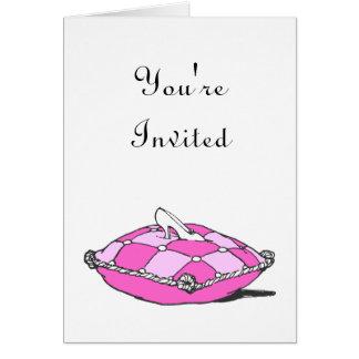 Convite do costume do travesseiro do rosa do