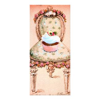 Convite do cupcake e do design do estilo do vintag 10.16 x 22.86cm panfleto