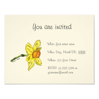 Convite do Daffodil (narciso)
