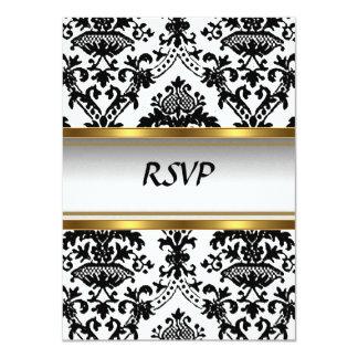 Convite do damasco RSVP