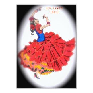 Convite do dançarino do Flamenco
