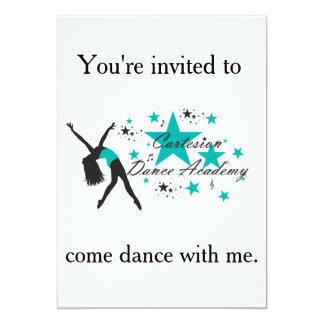 Convite do dance party de Cartesion