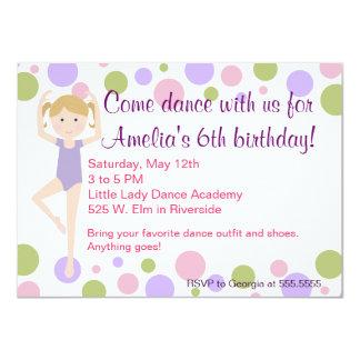 Convite do dance party do balé