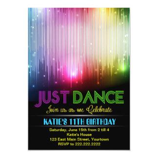 Convite do dance party do disco apenas