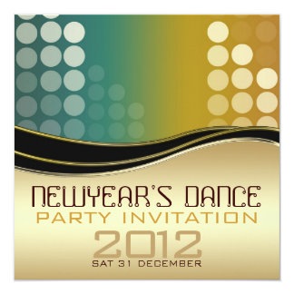 Convite do dance party do DJ do clube do ano novo
