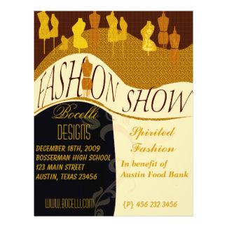 Convite do desfile de moda & do desenhista modelos de panfleto