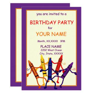 Convite do design do pastel do partido de