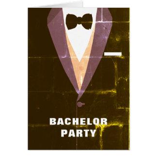 Convite do despedida de solteiro do smoking do cartão comemorativo