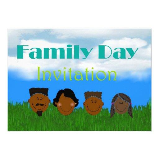 Convite do dia da família com a família de Amercia