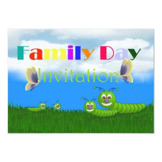 Convite do dia da família com borboleta das