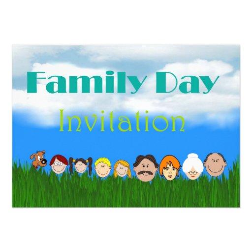 Convite do dia da família com caras da família