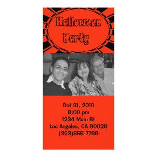 Convite do Dia das Bruxas Cartão Com Foto