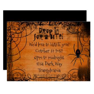 Convite do Dia das Bruxas da Web de aranha