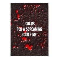 Convite do Dia das Bruxas do horror de Roadkill