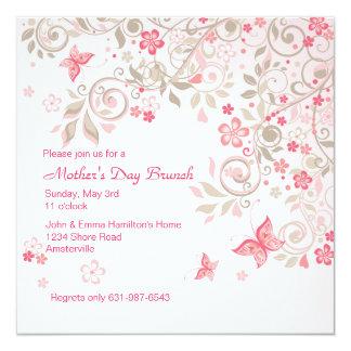 Convite do dia das mães do prado da borboleta