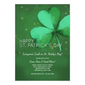 Convite do dia de St Patrick da aguarela