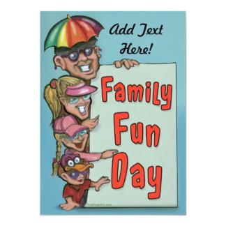 Convite do dia do divertimento da família do