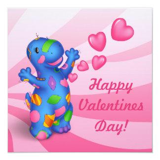 Convite do dia dos namorados de Dino-Buddies™ - Convite Quadrado 13.35 X 13.35cm