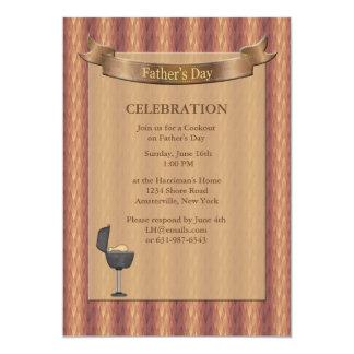 Convite do dia dos pais do revestimento protetor convite 12.7 x 17.78cm