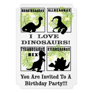 Convite do dinossauro
