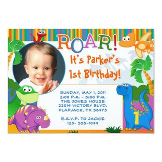 Convite do dinossauro - aniversário de criança