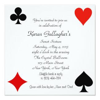 Convite do doce 16 de Las Vegas do casino