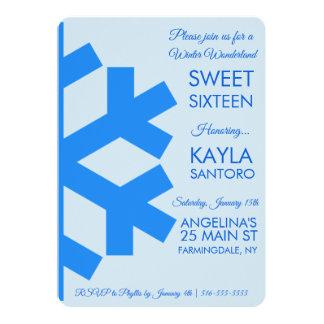 Convite do doce 16 do floco de neve