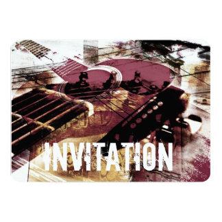 convite do doce do jazz da guitarra acústica