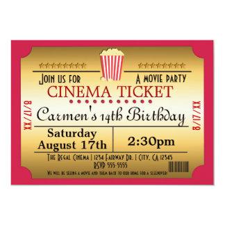 Convite do evento do partido da pipoca do bilhete