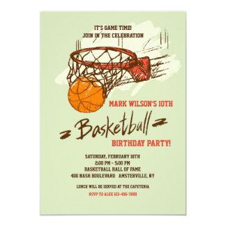 Convite do fã de basquetebol