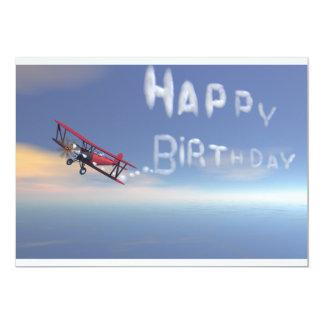 Convite do feliz aniversario de Skywriter