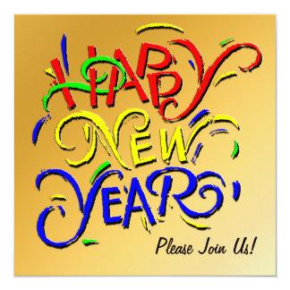 Convite do feliz ano novo