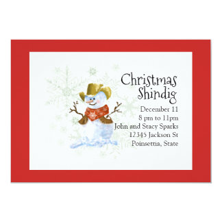 Convite do feriado do Natal do boneco de neve do