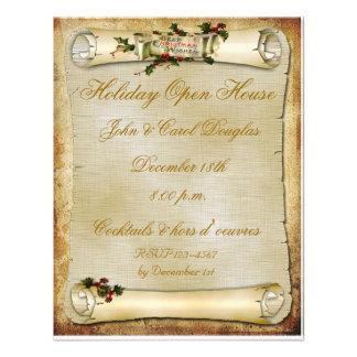 Convite do feriado do rolo do pergaminho