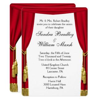Convite do filme/do casamento tema do teatro
