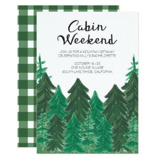 Convite do fim de semana da cabine - fim de semana