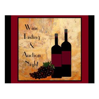 Convite do Fundraiser da degustação de vinhos