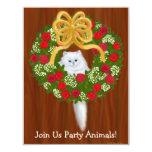 Convite do gatinho do Natal