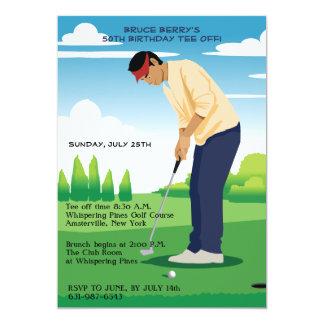 Convite do golfe do Bogey