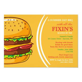 Convite do hamburguer