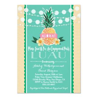 Convite do Hawaiian de Luau da festa de noivado