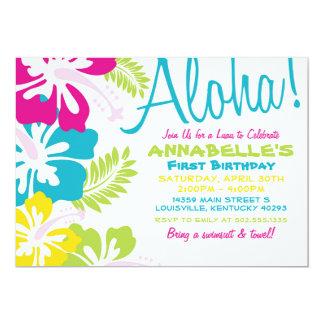 Convite do Hawaiian de Luau do verão