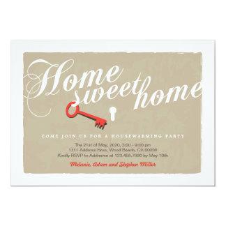 Convite do Housewarming do fechamento da chave do